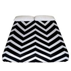 Zigzag Pattern Fitted Sheet (california King Size) by Valentinaart