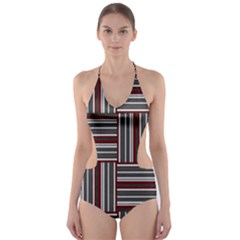 Pattern Cut-out One Piece Swimsuit by Valentinaart