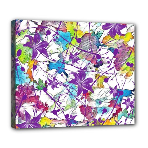 Lilac Lillys Deluxe Canvas 24  X 20   by designworld65