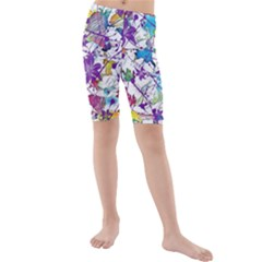 Lilac Lillys Kids  Mid Length Swim Shorts