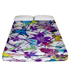 Lilac Lillys Fitted Sheet (king Size) by designworld65
