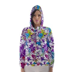 Lilac Lillys Hooded Wind Breaker (women) by designworld65