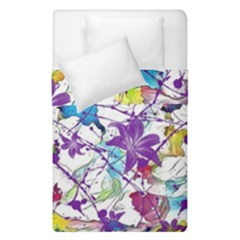 Lilac Lillys Duvet Cover Double Side (single Size)