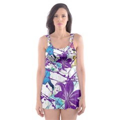 Lilac Lillys Skater Dress Swimsuit