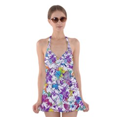 Lilac Lillys Halter Swimsuit Dress