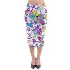 Lilac Lillys Midi Pencil Skirt by designworld65