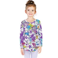 Lilac Lillys Kids  Long Sleeve Tee by designworld65