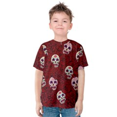 Funny Skull Rosebed Kids  Cotton Tee