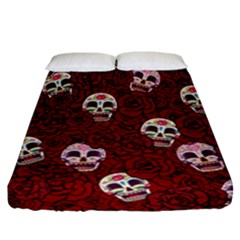 Funny Skull Rosebed Fitted Sheet (california King Size)