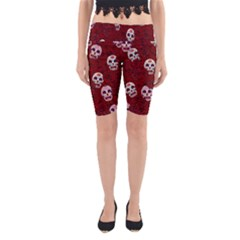 Funny Skull Rosebed Yoga Cropped Leggings