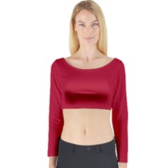 Color Long Sleeve Crop Top