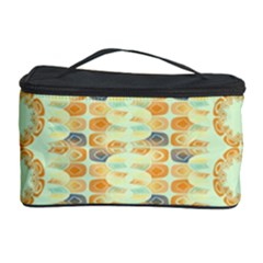 Ethnic Orange Pattern Cosmetic Storage Case by linceazul