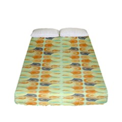 Ethnic Orange Pattern Fitted Sheet (full/ Double Size) by linceazul