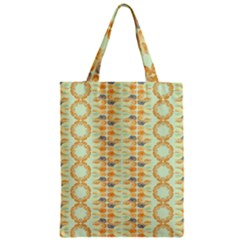 Ethnic Orange Pattern Zipper Classic Tote Bag by linceazul