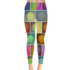 Multicolored Suns Leggings  by linceazul