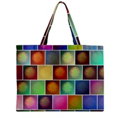 Multicolored Suns Medium Zipper Tote Bag by linceazul