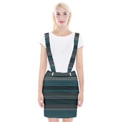 Pattern Braces Suspender Skirt