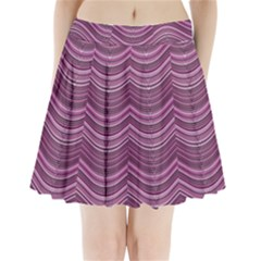 Abstraction Pleated Mini Skirt