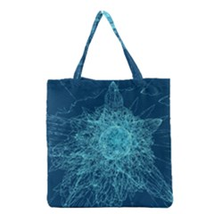 Shattered Glass Grocery Tote Bag by linceazul