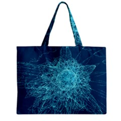 Shattered Glass Zipper Mini Tote Bag by linceazul