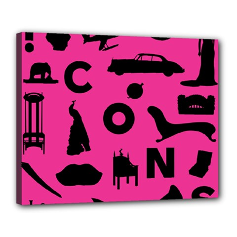 Car Plan Pinkcover Outside Canvas 20  X 16  by Mariart