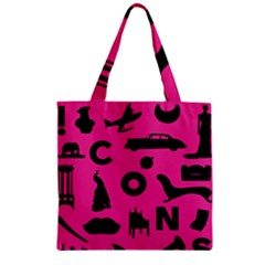 Car Plan Pinkcover Outside Zipper Grocery Tote Bag by Mariart