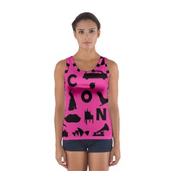 Car Plan Pinkcover Outside Women s Sport Tank Top  by Mariart