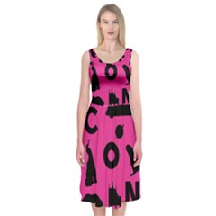 Car Plan Pinkcover Outside Midi Sleeveless Dress by Mariart