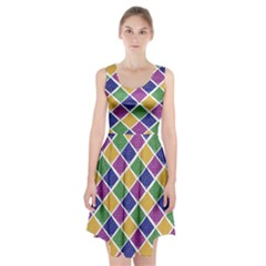 African Illutrations Plaid Color Rainbow Blue Green Yellow Purple White Line Chevron Wave Polkadot Racerback Midi Dress by Mariart
