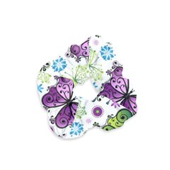 Butterfly Animals Fly Purple Green Blue Polkadot Flower Floral Star Velvet Scrunchie by Mariart