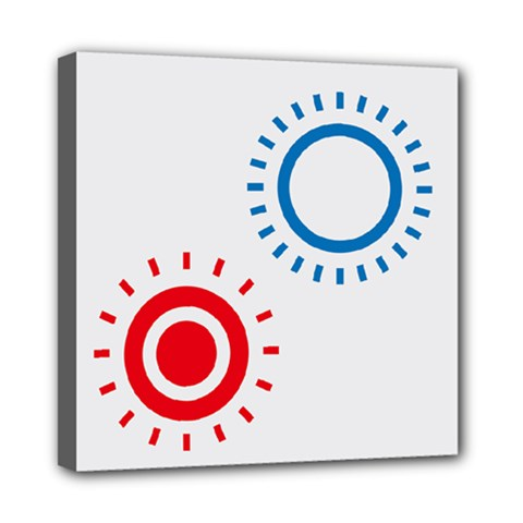 Color Light Effect Control Mode Circle Red Blue Mini Canvas 8  X 8  by Mariart