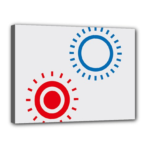 Color Light Effect Control Mode Circle Red Blue Canvas 16  X 12  by Mariart
