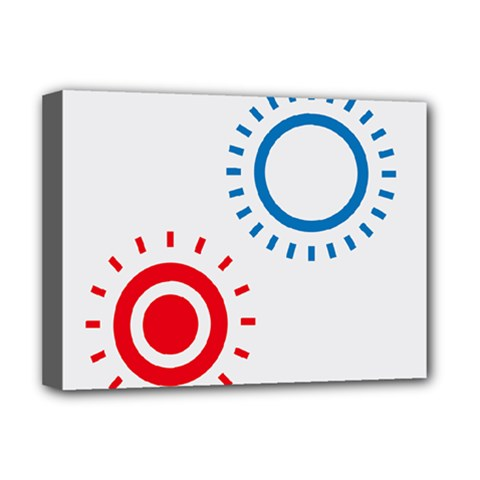 Color Light Effect Control Mode Circle Red Blue Deluxe Canvas 16  X 12   by Mariart