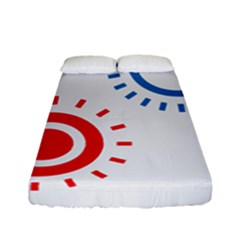 Color Light Effect Control Mode Circle Red Blue Fitted Sheet (full/ Double Size) by Mariart