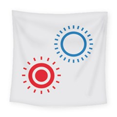 Color Light Effect Control Mode Circle Red Blue Square Tapestry (large) by Mariart