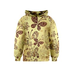 Butterfly Animals Fly Purple Gold Polkadot Flower Floral Star Sunflower Kids  Pullover Hoodie by Mariart