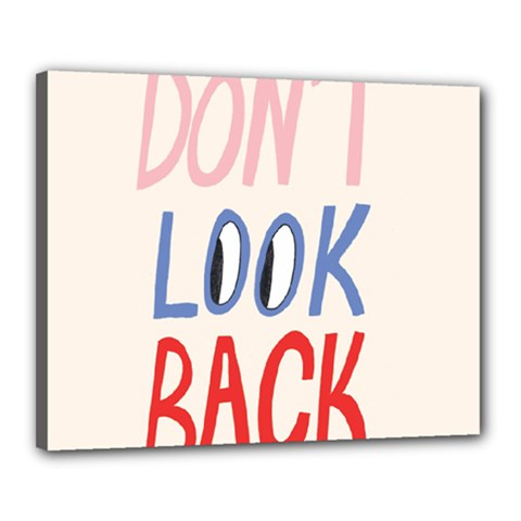 Don t Look Back Big Eye Pink Red Blue Sexy Canvas 20  X 16  by Mariart