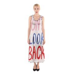 Don t Look Back Big Eye Pink Red Blue Sexy Sleeveless Maxi Dress by Mariart