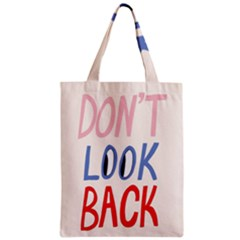 Don t Look Back Big Eye Pink Red Blue Sexy Zipper Classic Tote Bag by Mariart