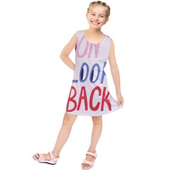 Don t Look Back Big Eye Pink Red Blue Sexy Kids  Tunic Dress