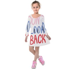 Don t Look Back Big Eye Pink Red Blue Sexy Kids  Long Sleeve Velvet Dress