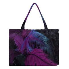 Feathers Quill Pink Black Blue Medium Tote Bag by Mariart