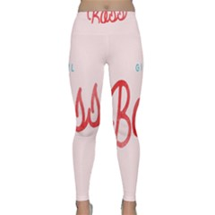 Girl Boss Pink Red Blue Sexy Classic Yoga Leggings by Mariart