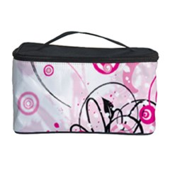 Wreaths Frame Flower Floral Pink Black Cosmetic Storage Case by Mariart