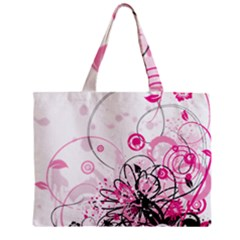 Wreaths Frame Flower Floral Pink Black Zipper Mini Tote Bag by Mariart