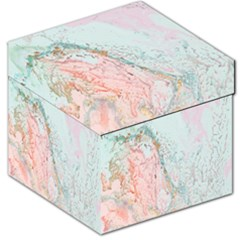 Geode Crystal Pink Blue Storage Stool 12