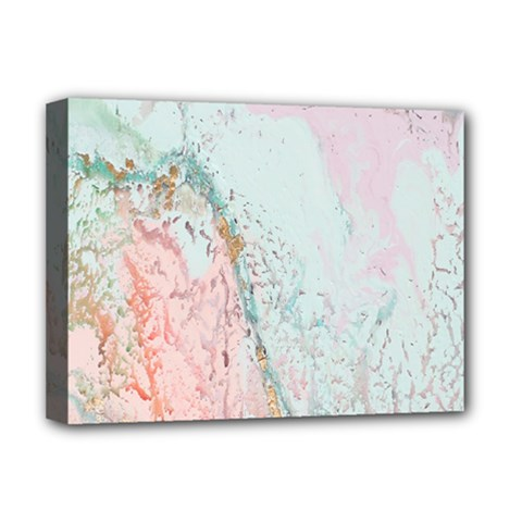Geode Crystal Pink Blue Deluxe Canvas 16  X 12