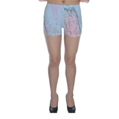 Geode Crystal Pink Blue Skinny Shorts by Mariart