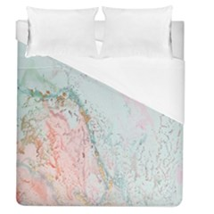 Geode Crystal Pink Blue Duvet Cover (queen Size) by Mariart