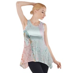 Geode Crystal Pink Blue Side Drop Tank Tunic